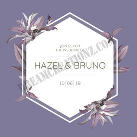 wedding-frame-with-purple-leaves-design-