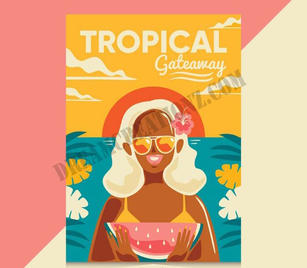 flat-vintage-travel-poster-with-girl cop