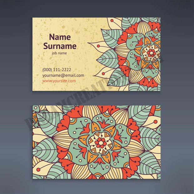 vintage-business-visiting-card-with-flor