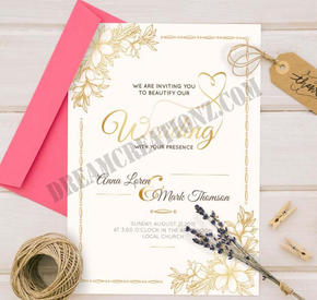 golden-wedding-invitation-vintage-style