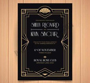 dark-wedding-invitation-art-deco-design