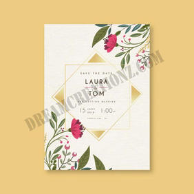 save-date-card-with-flowers-ornaments co