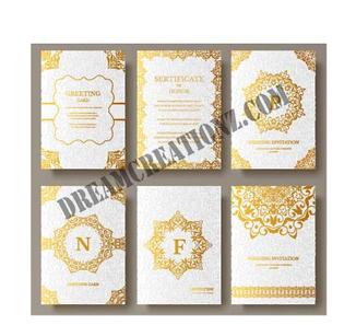 Luxury gold indian wedding invitation co