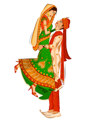 Groom Bride caricature