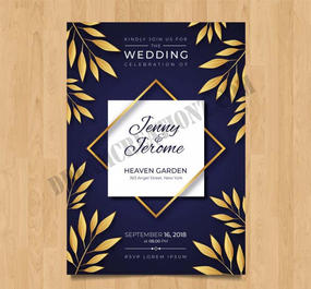 wedding-invitation-with-golden-leaves co