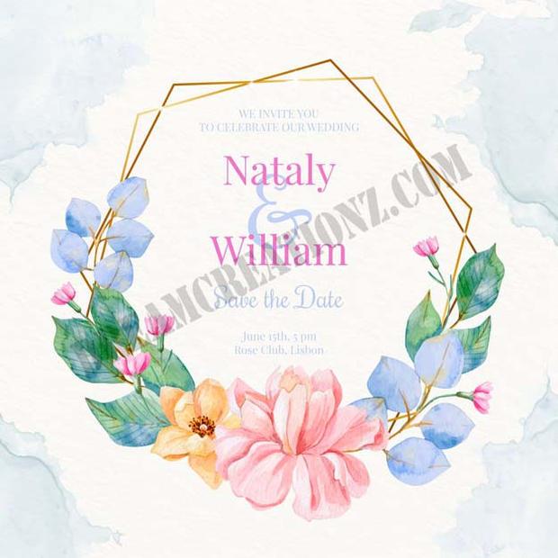 watercolour-wedding-golden-floral-frame