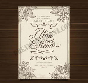 wedding-invitation-with-ornaments-vintag