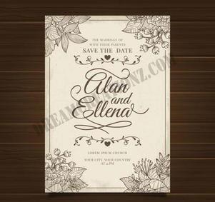 wedding-invitation-with-ornaments-vintag