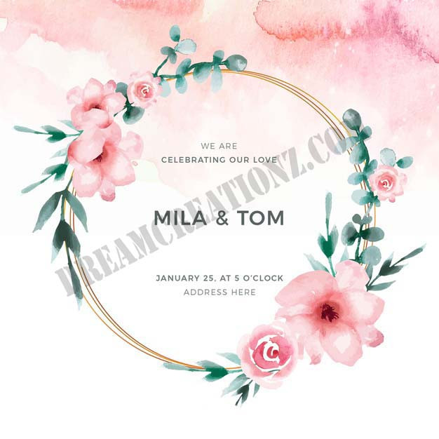 watercolor-floral-frame-wedding-invite c