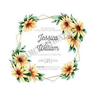 colorful-watercolor-floral-frame-wedding