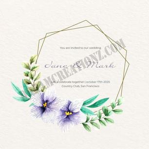 wedding-floral-frame-theme-invitation co