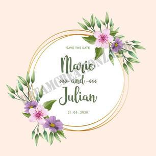 beautiful-golden-wedding-floral-frame co