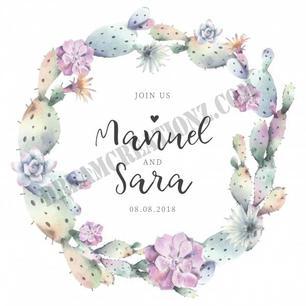 lovely-cactus-frame-wedding-invitation c