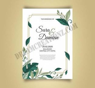 beautiful-wedding-invitation-with-leaves