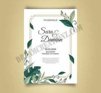 beautiful-wedding-invitation-with-leaves