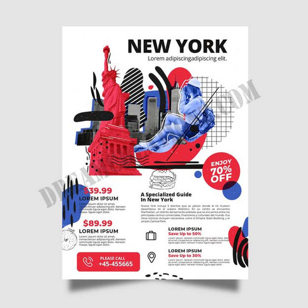 travelling-new-york-stationery-poster co