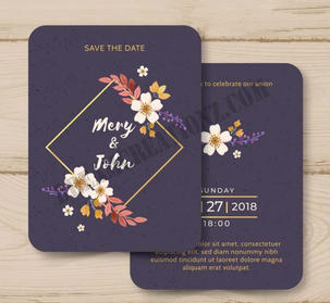 watercolor-wedding-invitation-with-golde