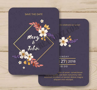 watercolor-wedding-invitation-with-golde