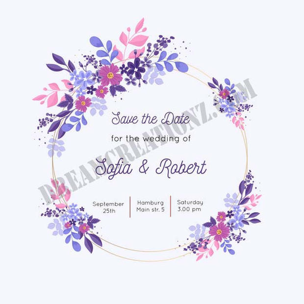 colorful-hand-painted-floral-frame-weddi