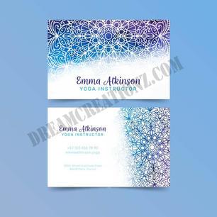 mandala-business-card-watercolor-concept
