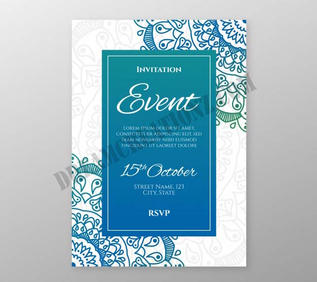lovely-wedding-invitation-with-colorful-