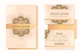 Indian wedding invitation set of 3 copy.
