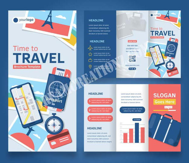 travel-trifold-brochure-with-travel-stuf