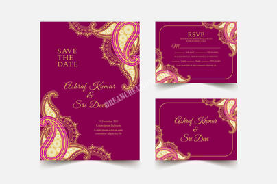 Indian wedding stationary collection cop