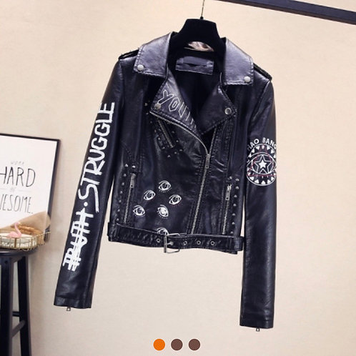 Cold Girl Leather Jacket