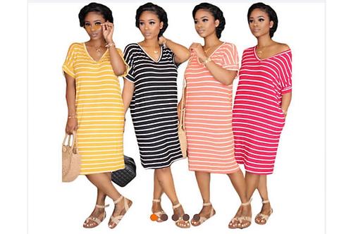 To Many Stripes Dress