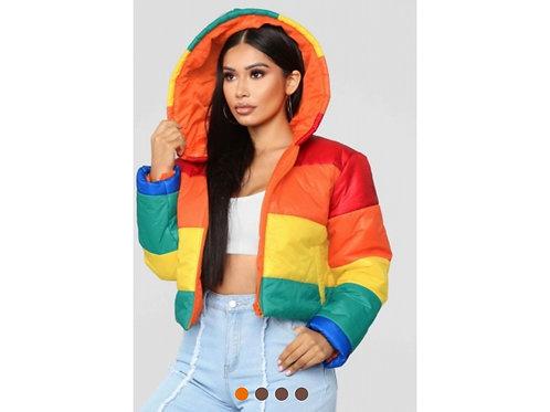 Bubble Stripes Coat