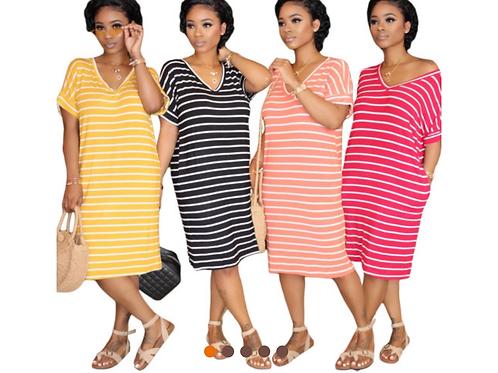 Too Many Stripes Dress