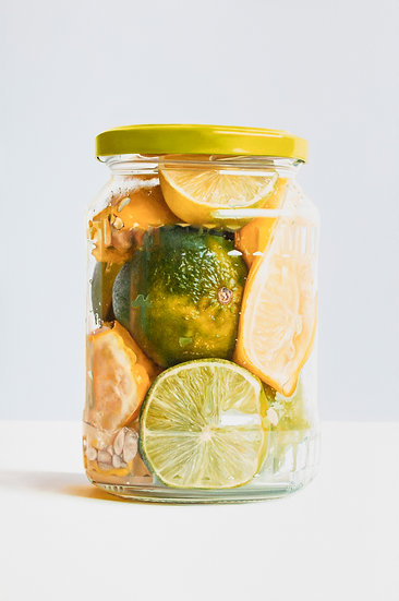 Lemons and Limes in Jar