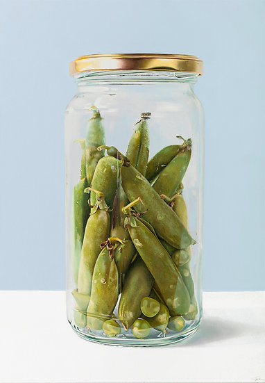 Peas n Pods in Jar