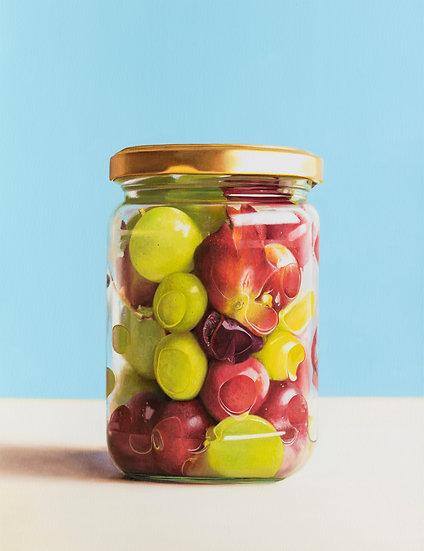 Grapes in Jar