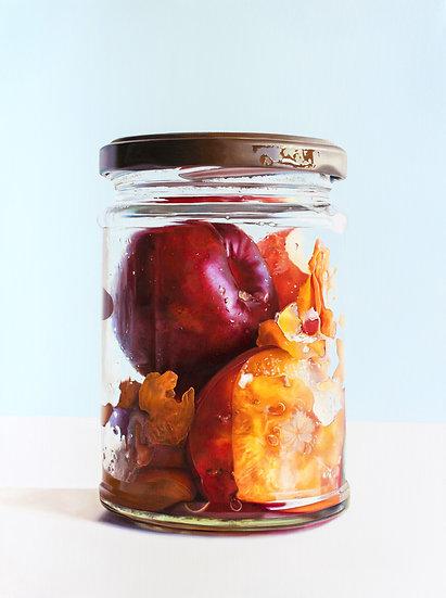 Plums in Jar