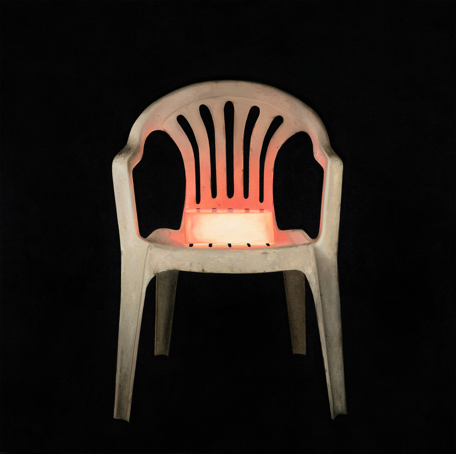 portrait of a red chair