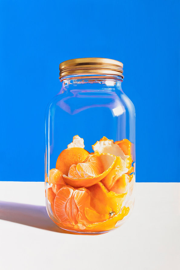 Oranges in Jar oil on dabond stephen joh