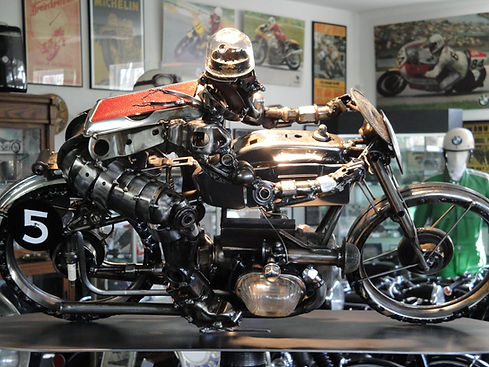 BMW motorcycle sculpture