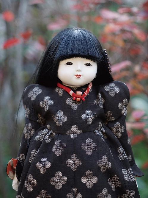 洋人形 36㎝ 昭和初期 大島紬