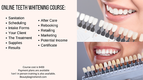 Teeth Whitening Online Course