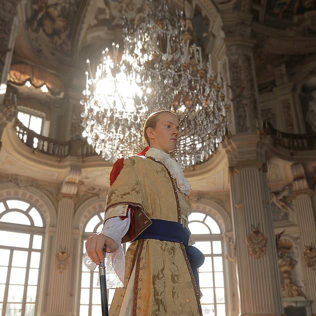 Il nostro Vittorio Amedeo II nella meravigliosa cornice della Palazzina di Caccia di Stupinigi