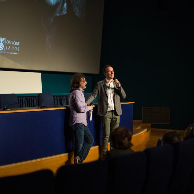 Alessandro Gaido e Alessandro Rota alla presentazione del 14 Maggio 2018 al Cinema Massimo di Torino