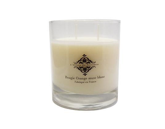 L'Abbaye Du Parfumeur - Bougie Parfumée Orange Musc Blanc 240g