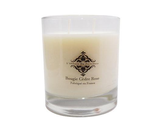 L'Abbaye Du Parfumeur - Bougie Parfumée Cèdre Rose 240g