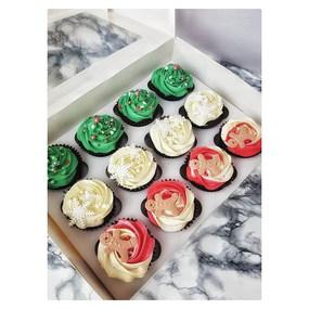 These adorable Christmas cupcakes went o