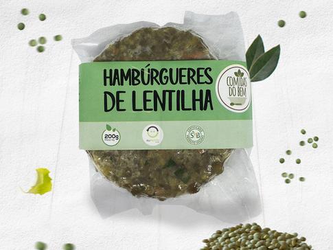 Hambúrgueres de Lentilha - Vegano