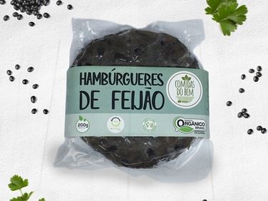 Hambúrgueres de Feijão - Vegano