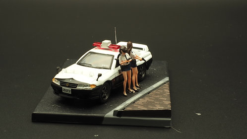 FigureWorkShop 1/64 Figures Japan Police 2Pcs Set FWS164132