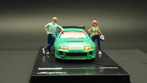 FigureWorkShop 1/64 Figures Teen Racer Blue n Green 2Pcs Set FWS164070
